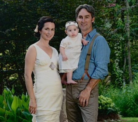 Mike Wolfe with his wife Jodi Faeth and his Daughter Charlie Faeth Wolfe. Source: Pinterest